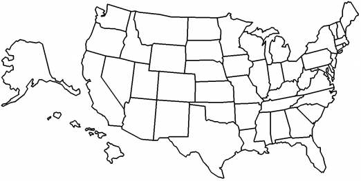 Visited States Map by epgSoft